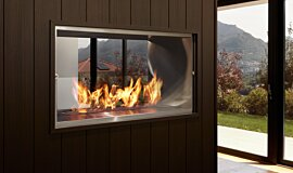Private Residence Indoor Fireplaces Built-In Fire Idea