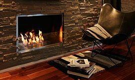 Private Residence Single Sided Fireboxes XL Burners Built-In Fire Idea