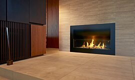 Private Residence Single Sided Fireboxes XL Burners Curved Sery Idea