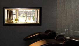 Raw Hair Salon See-Through Fireplaces Fireplace Insert Idea