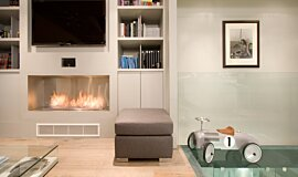 Private Residence Premium Fireplace Series Built-In Fire Idea