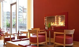 Vapiano, UK Premium Fireplace Series Built-In Fire Idea