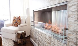 W Residence Premium Fireplace Series Built-In Fire Idea