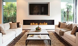 Rising Glen Premium Fireplace Series Built-In Fire Idea