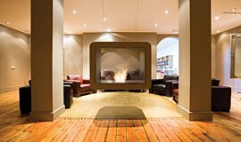 The Chapel Commercial Fireplaces Built-In Fire Idea