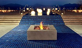 Commercial Space Freestanding Fireplaces Fire Table Idea