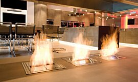 Allianz Arena Ethanol Burners Built-In Fire Idea