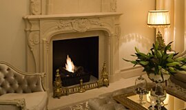 Chateau Couture Ethanol Burners Built-In Fire Idea