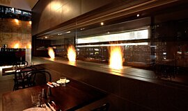Hurricane's Grill & Bar Ethanol Burners Built-In Fire Idea