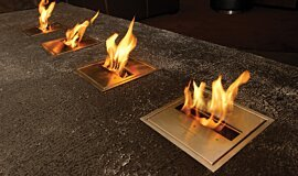 Long Room  Ethanol Burners Built-In Fire Idea