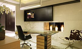 Pepe Calderin Design See-Through Fireplaces Ethanol Burner Idea