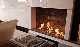 Queens Gate Terrace Ethanol Burners Built-In Fire Idea