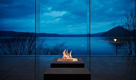 The Lake View Toya Nonokaze Resort Ethanol Burners Built-In Fire Idea