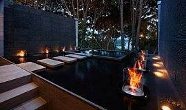 Hiramatsu Hotel & Resorts Fluid Concrete Technology Fire Pit Idea