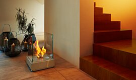 Commercial Space Freestanding Fireplaces Fire Pit Idea