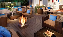 Kimber Modern Hotel Outdoor Fireplaces Fire Pit Idea