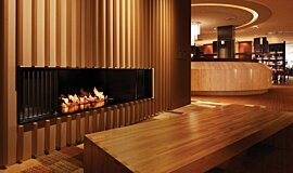 Keio Plaza Hotel See-Through Fireplaces Ethanol Burner Idea