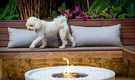 Stone Lotus Landscapes Freestanding Fireplaces Fire Pit Idea