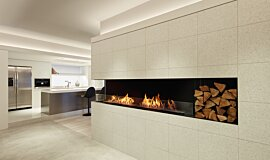 MML Showroom Single Sided Fireboxes XL Burners Flex Sery Idea