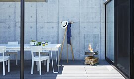 Private Residence Courtyard Designer Fireplaces Designer Fireplace Idea