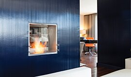 W Residence See-Through Fireplaces Fireplace Insert Idea