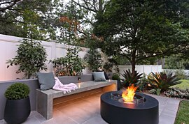 Ark 40 Outdoor Fireplace - In-Situ Image by EcoSmart Fire