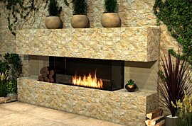 Flex 158BY.BX2 Fireplace Insert - In-Situ Image by EcoSmart Fire