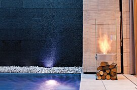 Ghost Outdoor Fireplace - In-Situ Image by EcoSmart Fire