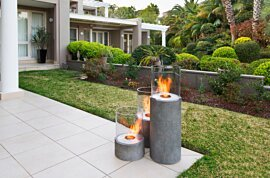 Lighthouse 300 Freestanding Fireplace - In-Situ Image by EcoSmart Fire