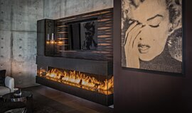 Hillside Residence Builder Fireplaces Ethanol Burner Idea
