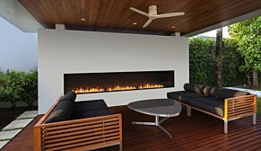 Flex 86SS.BXR Flex Fireplace - In-Situ Image by EcoSmart Fire