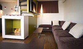 Chalet LaPlagne Freestanding Fireplaces Designer Fireplace Idea