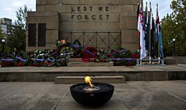 North Sydney ANZAC Day Dawn Service Mix Fire Bowls Fire Pit Idea