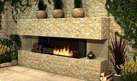 Outdoor Setting Flex Fireplaces Flex Fireplace Idea