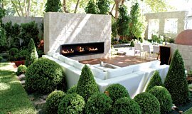 Melbourne International Garden and Flower Show Traditional Fireplaces Fireplace Insert Idea