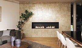 Merkmal Showroom Linear Fires Ethanol Burner Idea