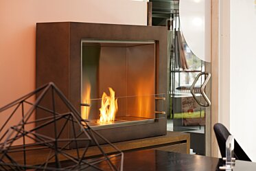 Showroom - Commercial Fireplace Ideas
