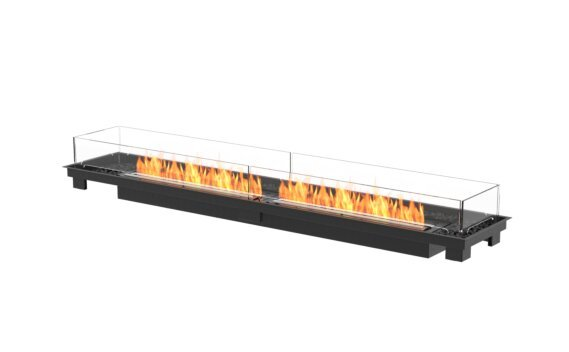 Linear 90 Fire Pit Kit - Ethanol - Black / Black / Indoor Safety Tray by EcoSmart Fire