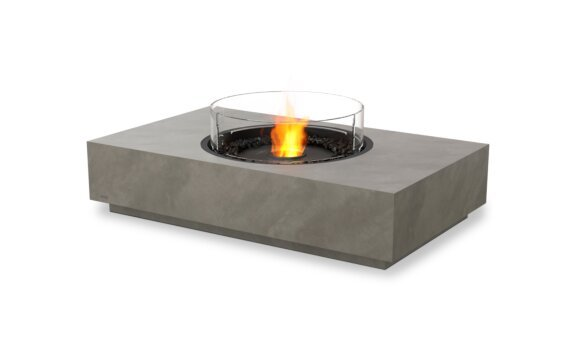 Martini 50 Fire Table - Ethanol - Black / Natural / Optional Fire Screen by EcoSmart Fire