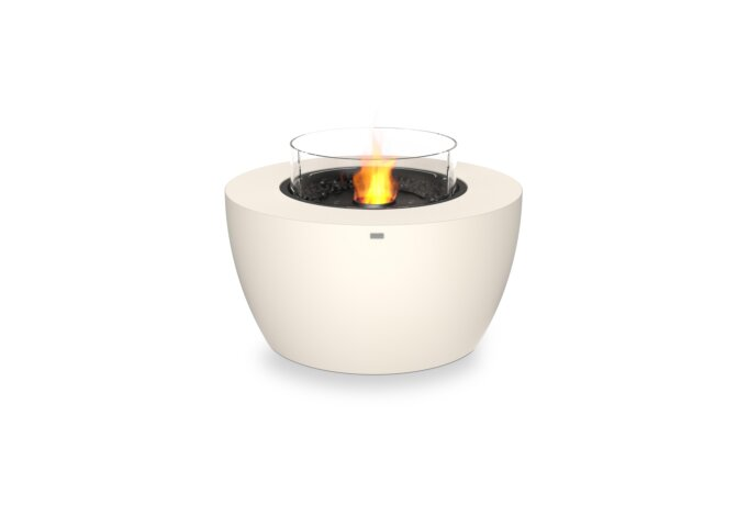 Pod 40 Fire Pit - Ethanol - Black / Bone / Optional Fire Screen by EcoSmart Fire