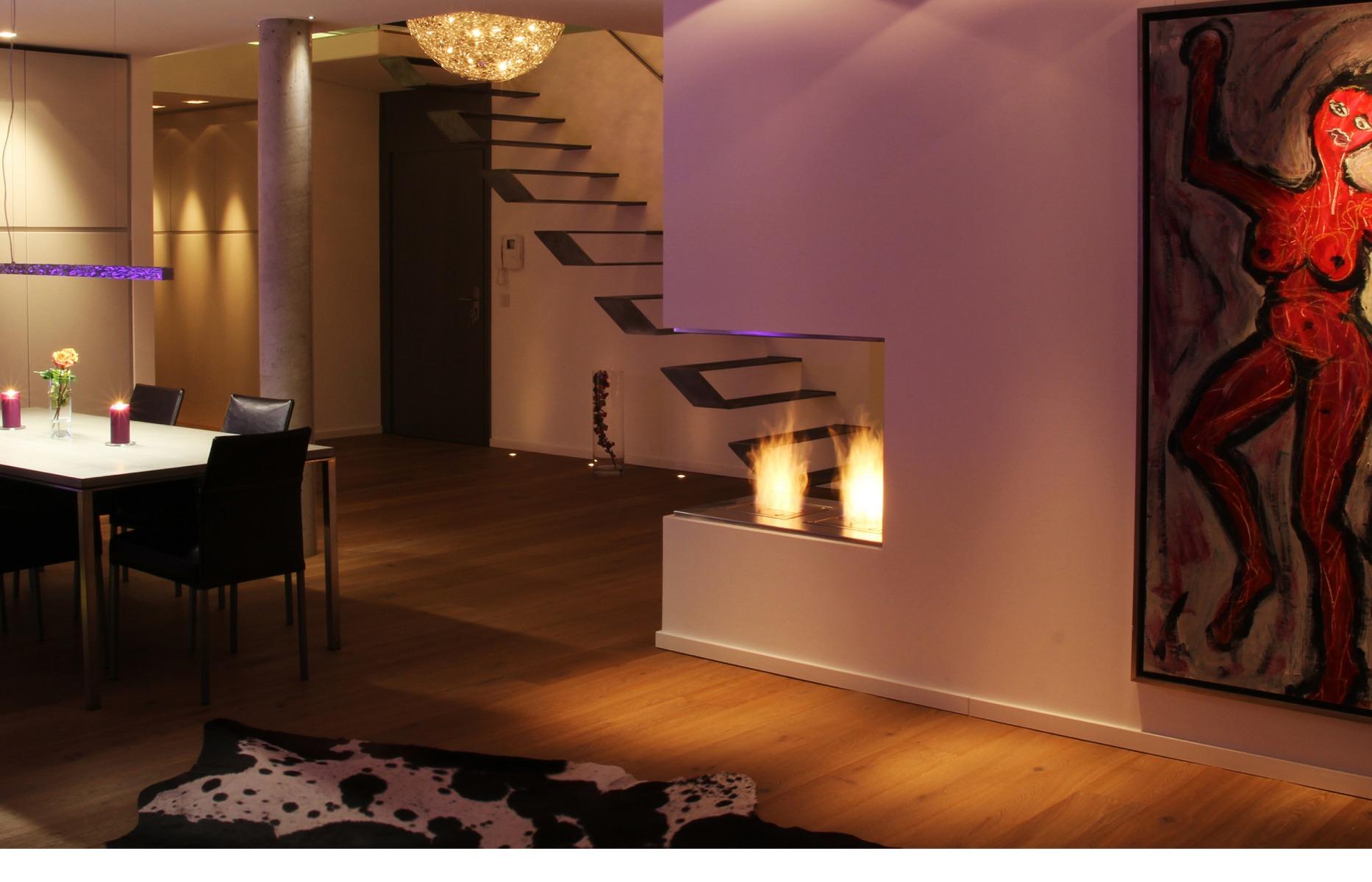 EcoSmart Fire BK5 burner corner fireplace